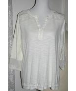 ECRU Cotton Rayon TOP Blouse Size Large Krazy kat - $9.99