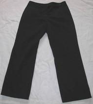 BLACK Cotton Lycra CHINO PANTS Misses Sz 12 Liz Claiborne - $18.98