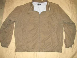DARK TAUPE BROWN Poly Nylon JACKET Size XXL Van Heusen - $19.98