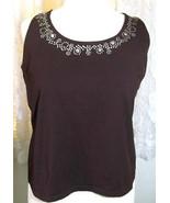 LADIES BROWN SHELL TOP Plus Size 18/20W  Cotton Spandex - $9.99