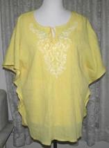 Ladies SUNSHINE YELLOW TOP + YELLOW TANK SET Size XL Denim & Co - $14.98