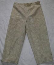 Ladies Cream On Ecru Brushed Chino Cropped Pants Size 14 Bill Blass - $9.99