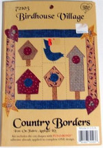 Full Color Iron-on Applique Kit COUNTRY BORDERS Birdhouse Village NIP - $2.99