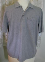 GREY Cotton Blend GOLF SHIRT Size XXL Van Heusen - $9.99