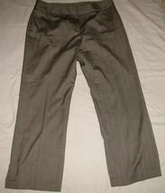 LIGHT BROWN Herringbone Dress Stretch SLACKS PANTS Size 16 INC - $19.98