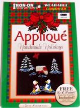 Full Color Iron-on Applique Kit Handmade holidays NIP - $2.99