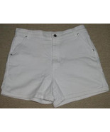 Ladies White COTTON DENIM Shorts Size 14 Lee - $8.99