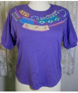 LADIES Purple Cotton Poly Knit SHIRT Size Large Koret - $7.99