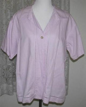 LILAC CUTWORK Linen Cotton Shirt Size Large French Laundry - $7.99