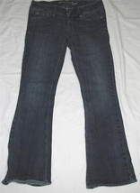 Medium Blue Denim Stretch JEANS Size 4 Regular American Eagle Live Your ... - $12.98