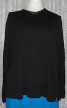 Men's or Women's BLACK with GREY PULLOVER Tee Shirt Size L Van Heusen - $11.98+