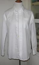 Men's WHITE Cotton Blend DRESS SHIRT Size Medium 32/34 - $12.98