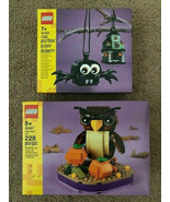 Lego 40497 Halloween Owl 40493 Spider Haunted House Ornament 2 sets In Hand - $55.43