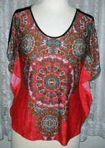 MULTI COLOR Poly Top Size 2X Wrapper NWT - $14.98+