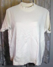 SOLID IVORY ECRU Cotton Top Size Large Westbound - $7.99