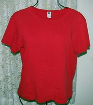 SOLID RED Cotton Tee Top Size XL Gap Factory Store - $9.99
