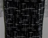 WHITE on BLACK Ribbed Poly Crepe SKIRT Size M Tailor by B Moss