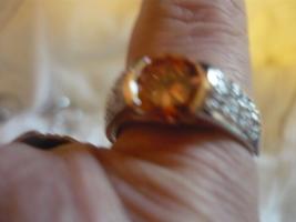 Paranormal Pharaohs Djinn Serling Silver Ring Size 7.5 Citrine Stone - $200.00