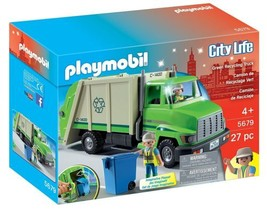 New! PLAYMOBIL 5679 Green Recycling Truck Plays... - $32.42