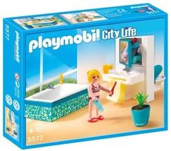 New! PLAYMOBIL 5577 Modern Bathroom Set Ages 4-10 - $23.95