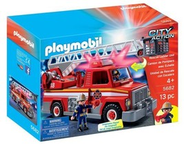 New! PLAYMOBIL 5682 Rescue Ladder Unit Playset ... - $32.40