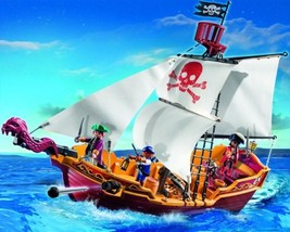 New! PLAYMOBIL 5618 Red Serpent Pirate Ship Age... - $45.26