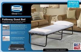 Folding Guest Bed Cot & Memory Foam Mattress Compact Portable Sleeper Fu... - $119.95