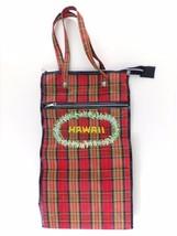 Vintage Hawaii Bag Tall Hawaii Rolling Tote Pla... - $45.00