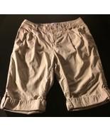 Liz Claireborne Womens Tan Size 8 Bermuda Shorts Bin#8 - $12.19