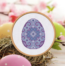 Cross stitch pattern Easter Egg - $4.50