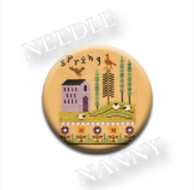 Spring Needle Nanny needle minder cross stitch Lizzie Kate Quilt Dots  - $12.00