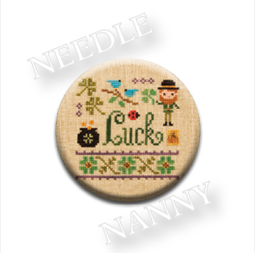 Luck Needle Nanny needle minder cross stitch Lizzie Kate Quilt Dots  - $12.00