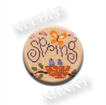Spring Fling Needle Nanny needle minder cross stitch Lizzie Kate Quilt D... - $12.00