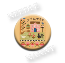 Summer Needle Nanny needle minder cross stitch Lizzie Kate Quilt Dots  - $12.00
