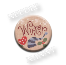 Winter-ize Needle Nanny needle minder cross stitch Lizzie Kate Quilt Dots  - $12.00