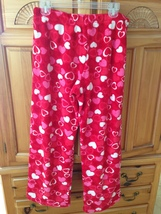 Women's soft & comfy fleece drawstring pants with hearts Size Medium By Love is - $24.99