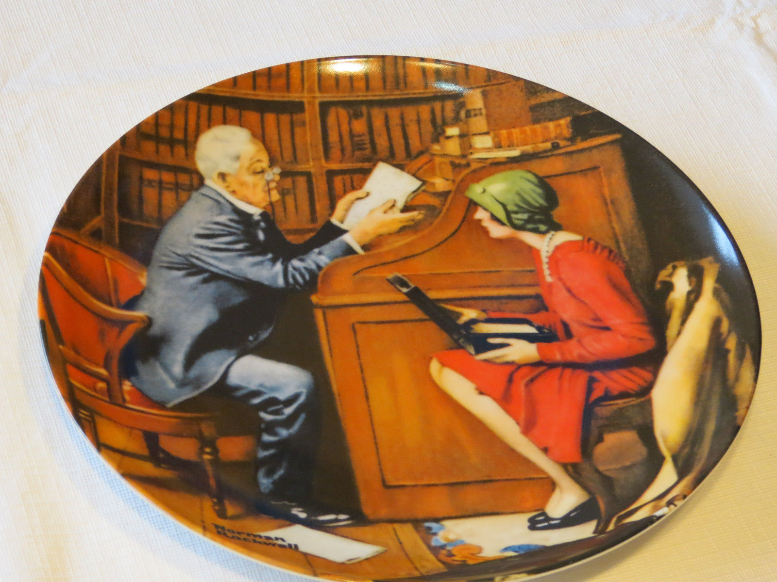Primary image for Norman Rockwell's Heritage Collection The Professor 9660B collector plate #%