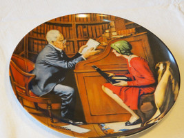 Norman Rockwell's Heritage Collection The Professor 9660B collector plat... - $29.69