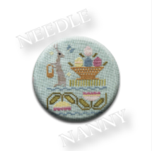 Little Gray Hare Needle Nanny needle minder cross stitch Lizzie Kate Qui... - $12.00