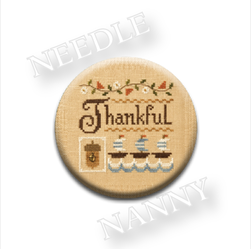 A Little Thankful Needle Nanny needle minder cross stitch Lizzie Kate Quilt Dots