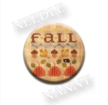 Acorns Needle Nanny needle minder cross stitch ... - $12.00