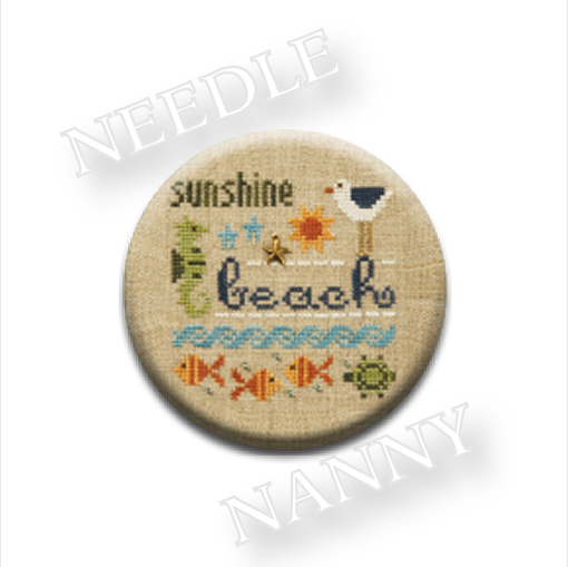 Primary image for Beach Needle Nanny needle minder cross stitch Lizzie Kate Quilt Dots