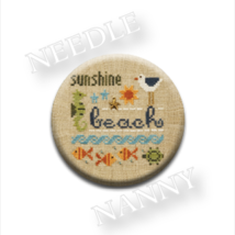 Beach Needle Nanny needle minder cross stitch Lizzie Kate Quilt Dots - $12.00
