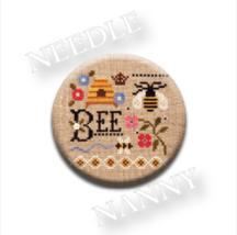 Bee Needle Nanny needle minder cross stitch Lizzie Kate Quilt Dots - $12.00