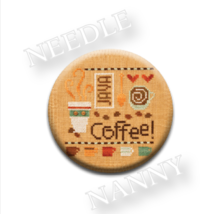 Coffee Needle Nanny needle minder cross stitch Lizzie Kate Quilt Dots - $12.00