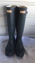 Hunter Original Tall Matte Black Rubber Pull On Unisex rain  Boots Sz 7M... - $1.529,84 MXN