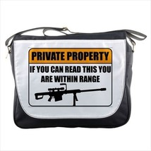Private Property Trespassing Sign NRA Messenger Bag - $36.03
