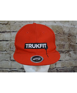 Trukfit Black Label Red Snapback Hat Flat Bill - $21.77