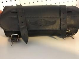 Harley-Davidson Black Leather Storage Holder Motor Cycle Bag - $47.50