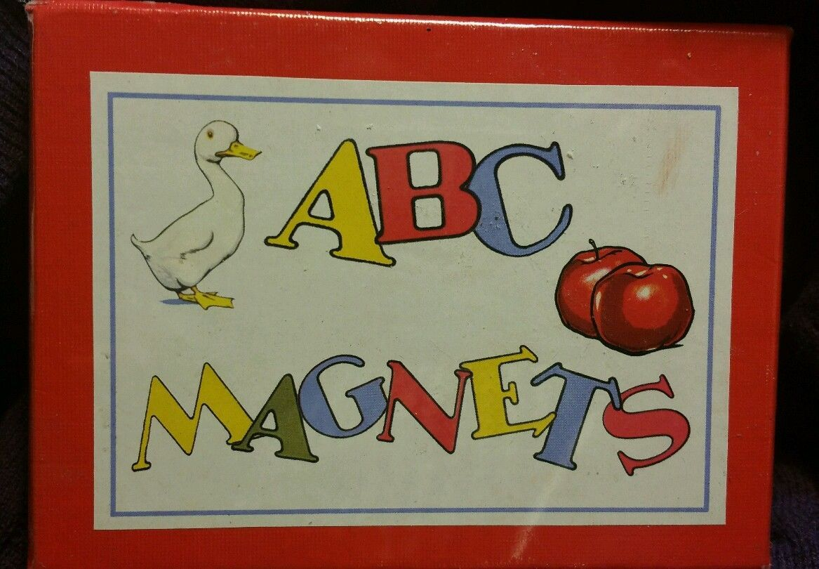 Primary image for Cavallini & Co. ABC Flash Card Magnets Set NIB Retro Letters Pictures 2002